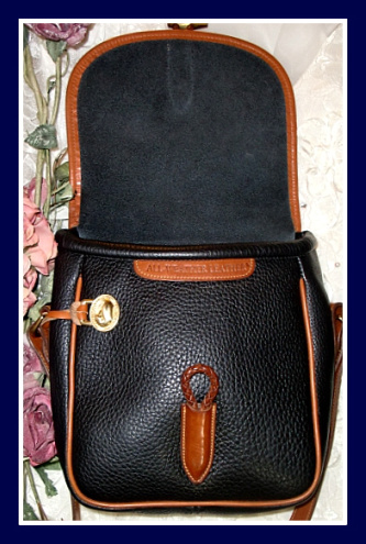 vintage dooney bourke black loden bag
