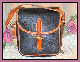 Bold Black Loden Bag Vintage Dooney Bourke AWL- Dooney and Bourke, 