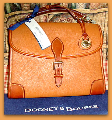 Sophisticated Terracotta Spice Dooney Bourke AWL-New Generation Vintage Carpet Bag Dooney Bourke AWL, dooney burke, dooney, vintage dooney