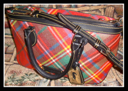 Like New Red Plaid Dooney & Bourke Satchel/Shoulder Bag-Dooney & Bourke,