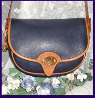 Regal Navy Blue Large Cavalry Trooper Dooney Bourke AWL Bag-Navy Blue, Large, Cavalry ,Trooper ,Dooney, Bourke, AWL, Bag,, nopin