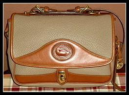 Khaki Carrier Bag Vintage Dooney AWL