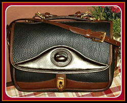 Exclusive Black Vintage Dooney Carrier Bag with Chocolate Eclair Icing-Black Vintage Dooney Carrier Bag , Vintage Dooney & Burke, Dooney Carrier,Vintage Dooney and Bourke