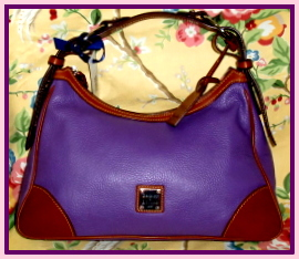 Passionate Purple Delight Dooney & Bourke Lg Harrison Hobo-Dooney and Bourke