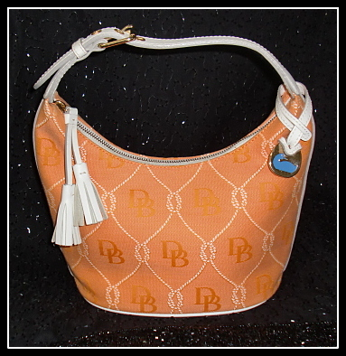 Sunny Orange Sherbet Dooney & Bourke Quilted Bucket Bag-Dooney and Bourke