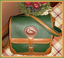 Aged to Perfection Cypress Green Vintage Dooney Surrey Bag-Vintage Dooney and Bourke,