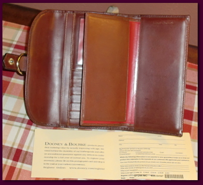 Signature Hearts Dooney Checkbook Organizer Wallet