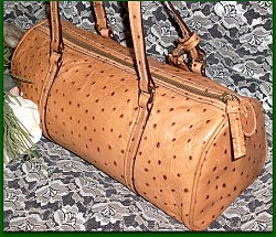 Exotic Dooney Bourke Ostrich Leather Barrel Bag!-Exotic Dooney Bourke Ostrich Leather Barrel Bag,Dooney and Bourke,
