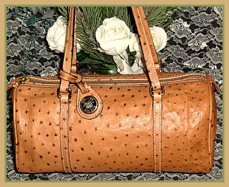 Exotic Dooney Bourke Ostrich Leather Barrel Bag  2185a76b1e