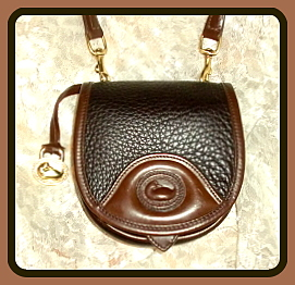 Yummy Chocolate Oreo Vintage Dooney Saddle Bag Mini-Vintage Dooney and Bourke,