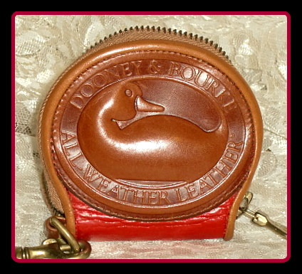 Vintage Dooney and Bourke Big Duck Coin Purse