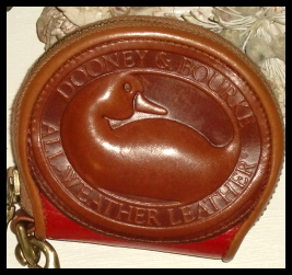 Ruby Red Zipalong Vintage Dooney Coin Purse!
