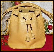 Dramatic Palomino Teton Drawstring Vintage Dooney-Palomino Teton Drawstring Bag,Vintage Dooney and Bourke