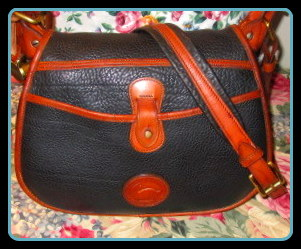DB480Vintage Dooney Horseshoe Bag