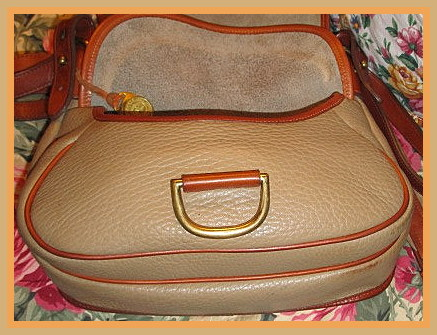 Authentic Vintage  Dooney and Bourke All-Weather Leather  R57 Horseshoe Bag