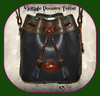 Dooney and Bourke All-Weather Leather  Teton Collection  Mini Drawstring Bag