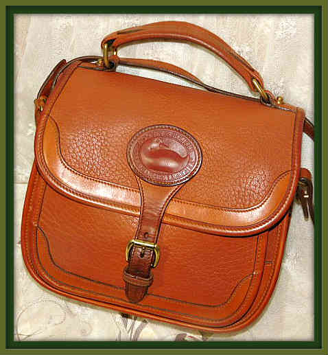 Vintage Dooney and Bourke  All-Weather Leather  Surrey Pony Express Bag