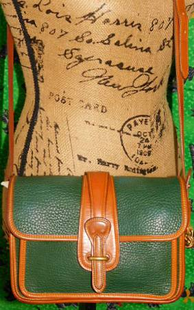 Vintage Dooney and Bourke All-Weather Leather  Pocket Equestrian Bag