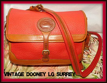 Red Vintage Dooney Large Surrey Bag