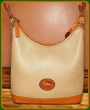 Warm Harvest Cider Vintage Dooney Hobo Shoulder Bag