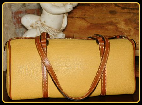 Immaculate Palomino Dooney Barrel Satchel