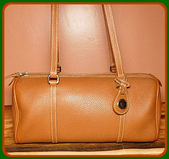 Western Saddle Tan Barrel Satchel Dooney Bourke Bag