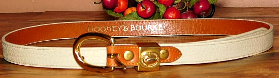 Vintage Dooney and Bourke Logo Ladies Belt