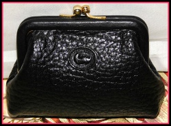 Night Sky Black Vintage Dooney Coin Purse AWL-Black Vintage Dooney Coin Purse AWL