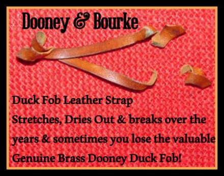 Replacement:  Leather Strap for  Dooney Duck Fob