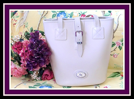 Swank Dooney & Bourke Leather Bone Bucket Bag-Exclusive