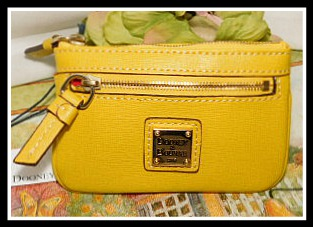 Yellow Dooney Deluxe Coin Purse