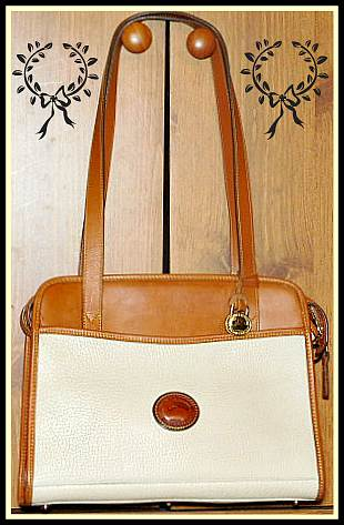large Vintage Dooney Satchel Shoulder Bag