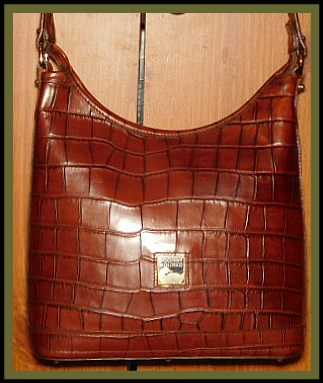Brown Alligator Dooney Hobo Bag