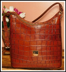 Exotic Galápagos Island Brown Alligator Dooney Hobo Bag-Brown Alligator Dooney Hobo Bag