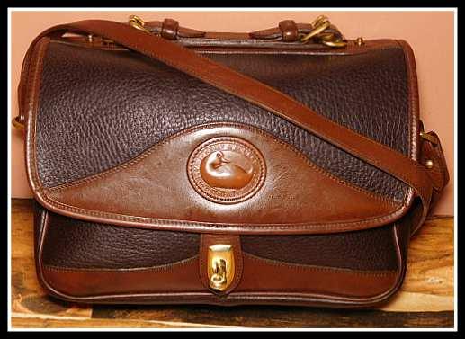 Vintage Dooney and Bourke  All-Weather Leather®  Carrier Shoulder Bag (Large)