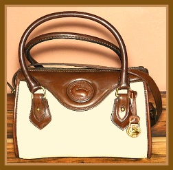 Bone Vintage Dooney Mini Satchel Shoulder Bag-Vintage Dooney Mini Satchel Shoulder Bag