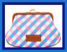 Cameo Pink & Blue Large Kiss Lock Pursette Dooney Elsie NEW!-Dooney & Bourke