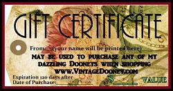 VintageDooney.com Gift Certificate