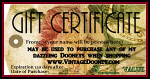 Vintage Dooney Gift Certificates