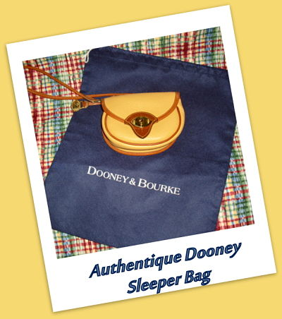 Dooney and Bourke Blue Sleeper Bag