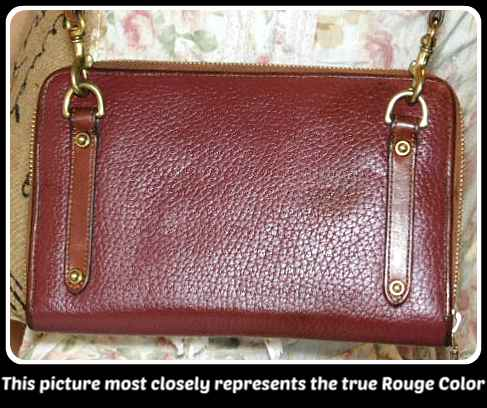 Dooney & Bourke All-Weather Leather  Zip-Along Wallet Rouge