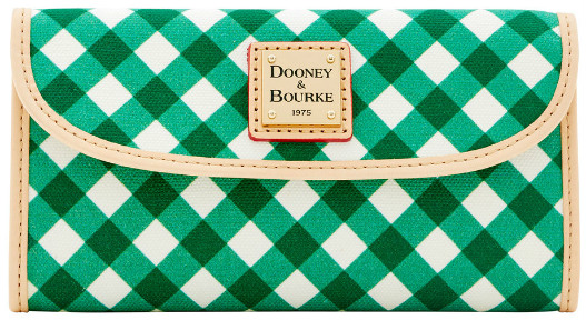 Dooney Bourke Gingham Continental Clutch Wallet