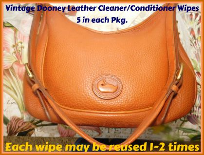 Vintage Dooney Leather Cleaner Conditioner Wipes