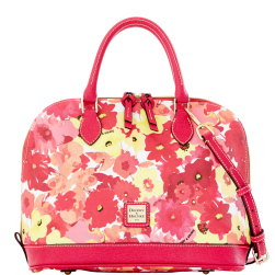 Magenta Taffy Somerset Watercolor Zip Zip Satchel Dooney Bourke NEW!-Dooney & Bourke