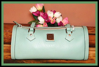 Teal Barrel Bag All-Weather Leather