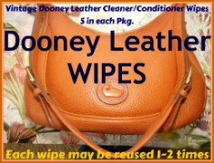 Vintage Dooney Leather Cleaner/Conditioner Wipes