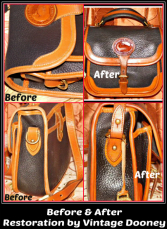 All-Weather Leather Vintage Dooney Restoration Service-All-Weather Leather Vintage Dooney Restoration Service, leather bag restore, dooney leather purse restored, dooney bag clean, dye dooney leather