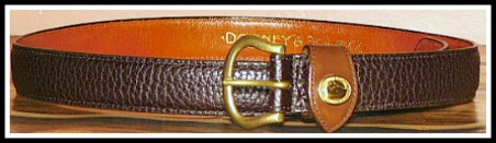 Vintage Dooney and Bourke All-Weather Leather AWL belt