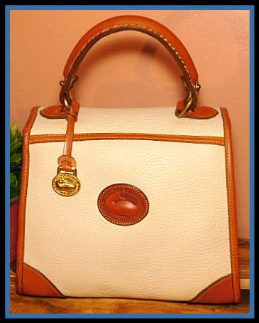 Vintage Dooney and Bourke  All-Weather Leather  Carpet Bag