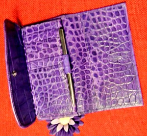 Vintage Dooney and Bourke  Bayou Collection  Framed Checkbook Organizer Wallet